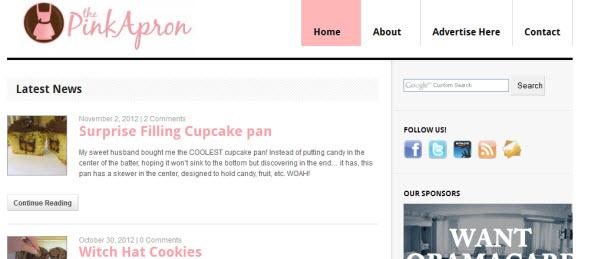 Pink Apron Blog